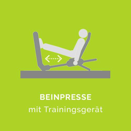 Beinpresse mit Trainingsgerät