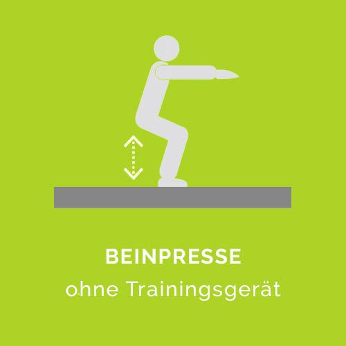 Beinpresse ohne Trainingsgerät