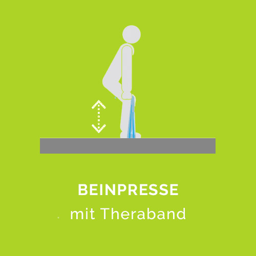 Beinpresse mit Theraband