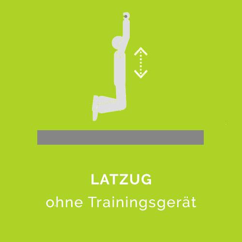 Latzug ohne Trainingsgerät