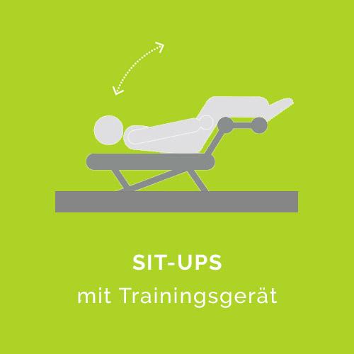 Situps mit Trainingsgerät