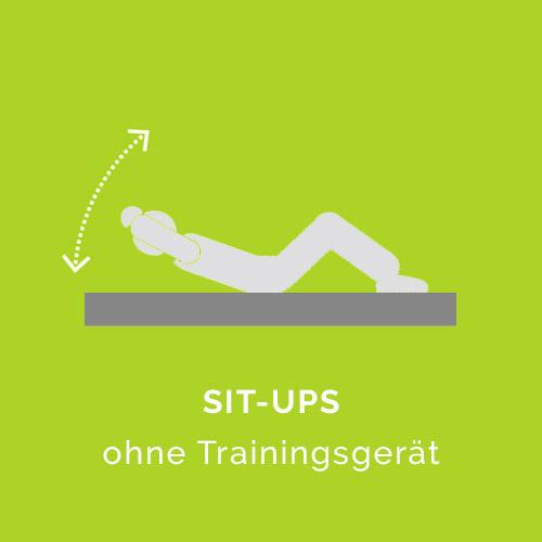 Situps ohne Trainingsgerät