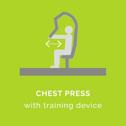 Brustpresse mit Trainingsgerät